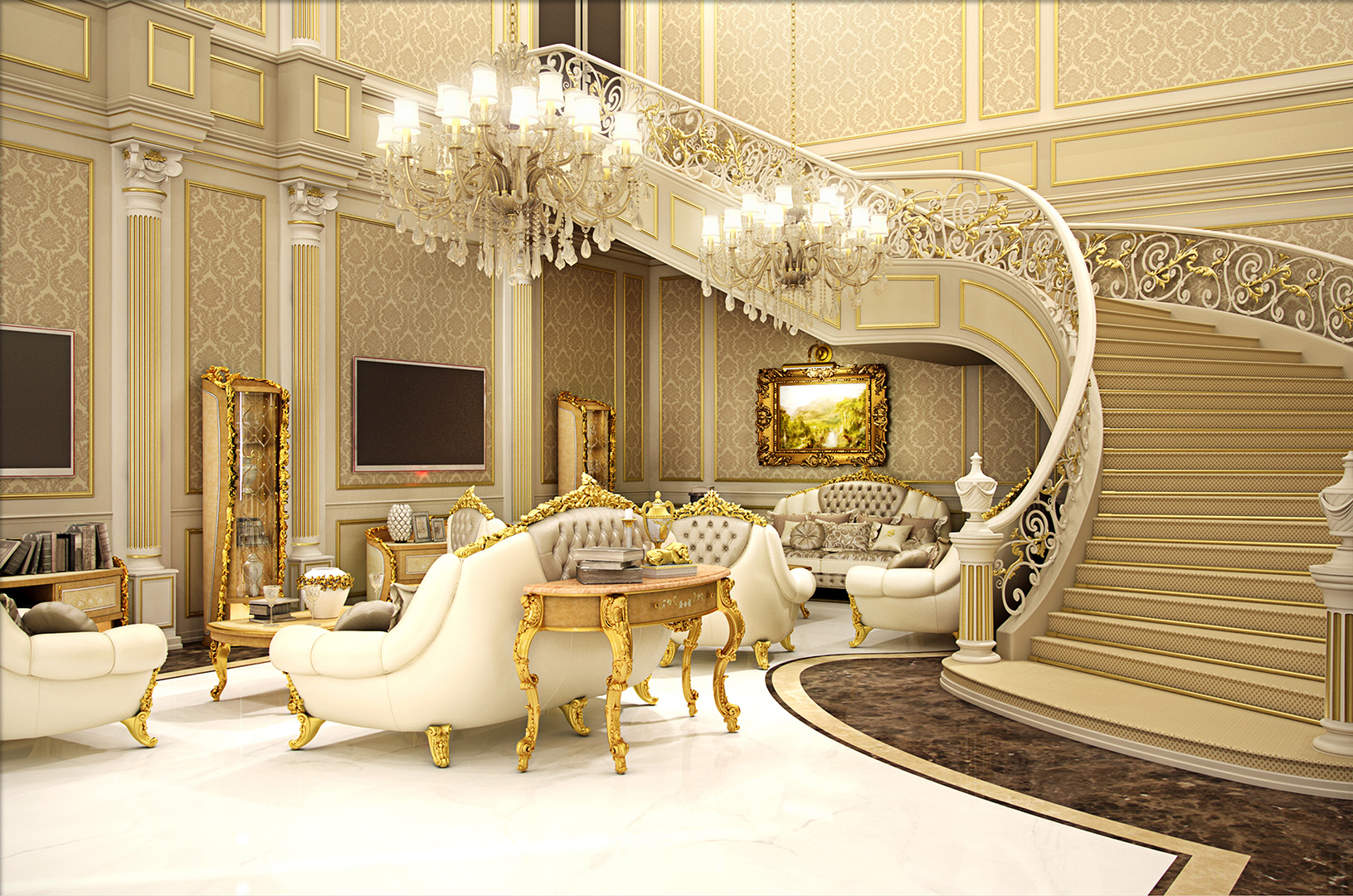 15-310 Entrance Living room RENDER1 15 06 2015